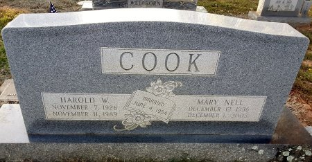 COOK, MARY NELL - Morris County, Texas | MARY NELL COOK - Texas Gravestone Photos
