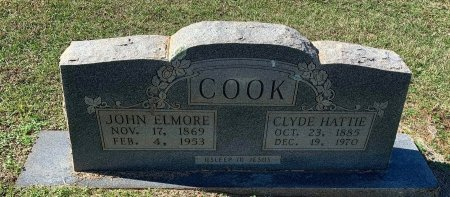 COOK, CLYDE HATTIE - Morris County, Texas | CLYDE HATTIE COOK - Texas Gravestone Photos
