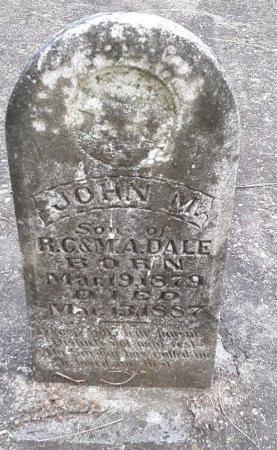DALE, JOHN M - Morris County, Texas | JOHN M DALE - Texas Gravestone Photos