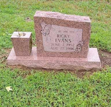 EVANS, RICKY - Morris County, Texas   RICKY EVANS - Texas Gravestone Photos