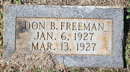 FREEMAN, DON B - Morris County, Texas   DON B FREEMAN - Texas Gravestone Photos