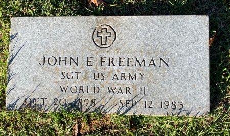 FREEMAN (VETERAN WWII), JOHN E - Morris County, Texas   JOHN E FREEMAN (VETERAN WWII) - Texas Gravestone Photos