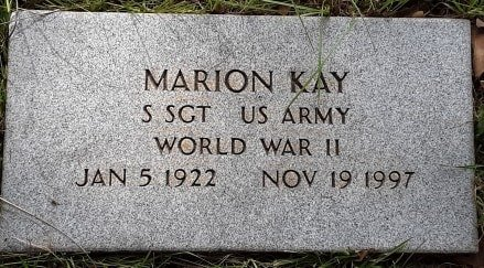 KAY (VETERAN WWII), MARION - Morris County, Texas | MARION KAY (VETERAN WWII) - Texas Gravestone Photos