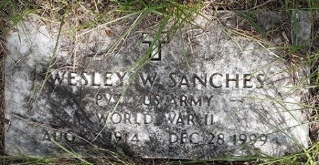 SANCHES (VETERAN WWII), WESLEY W - Morris County, Texas | WESLEY W SANCHES (VETERAN WWII) - Texas Gravestone Photos