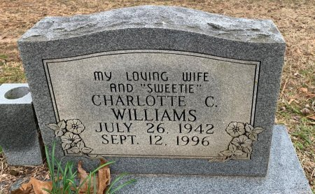 WILLIAMS, CHARLOTTE C - Morris County, Texas | CHARLOTTE C WILLIAMS - Texas Gravestone Photos