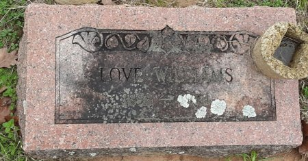 WILLIAMS, LOVE - Morris County, Texas | LOVE WILLIAMS - Texas Gravestone Photos