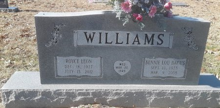 WILLIAMS, ROYCE LEON - Morris County, Texas   ROYCE LEON WILLIAMS - Texas Gravestone Photos