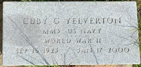 YELVERTON (VETERAN WWII), CUBY C - Morris County, Texas | CUBY C YELVERTON (VETERAN WWII) - Texas Gravestone Photos