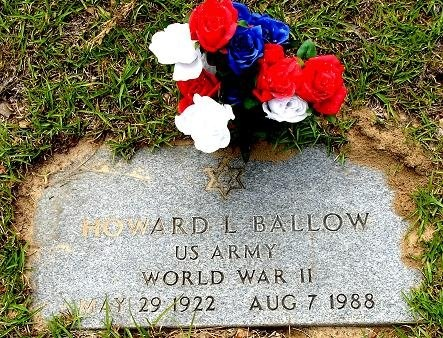 BALLOW (VETERAN WWII), HOWARD L - Nacogdoches County, Texas | HOWARD L BALLOW (VETERAN WWII) - Texas Gravestone Photos