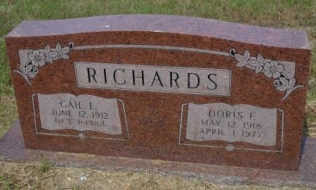 RICHARDS, DORIS F. - Nacogdoches County, Texas | DORIS F. RICHARDS - Texas Gravestone Photos