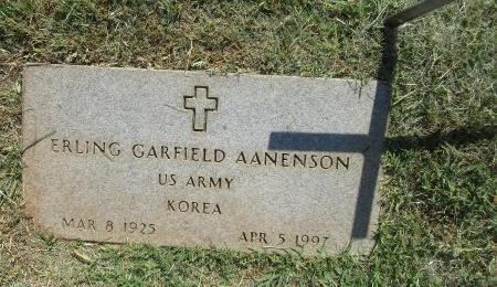 AANENSON (VETERAN KOR), ERLING GARFIELD - Nolan County, Texas   ERLING GARFIELD AANENSON (VETERAN KOR) - Texas Gravestone Photos