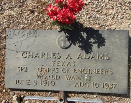 ADAMS (VETERAN WWII), CHARLES A. - Nolan County, Texas | CHARLES A. ADAMS (VETERAN WWII) - Texas Gravestone Photos