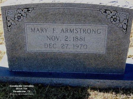 ARMSTRONG, MARY F - Nolan County, Texas | MARY F ARMSTRONG - Texas Gravestone Photos