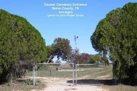 *ENTRANCE,  - Nolan County, Texas    *ENTRANCE - Texas Gravestone Photos