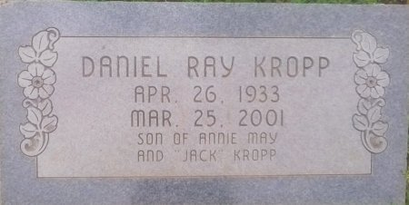 KROPP, DANIEL RAY - Nolan County, Texas | DANIEL RAY KROPP - Texas Gravestone Photos