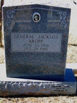 "KROPP (VETERAN), GENERAL JACKSON ""JACK"" - Nolan County, Texas   GENERAL JACKSON ""JACK"" KROPP (VETERAN) - Texas Gravestone Photos"