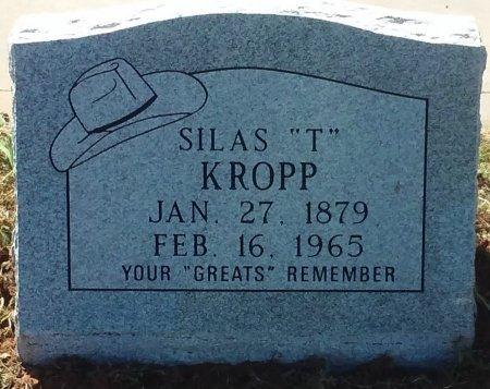 """KROPP, SILAS """"T"""" - Nolan County, Texas   SILAS """"T"""" KROPP - Texas Gravestone Photos"""