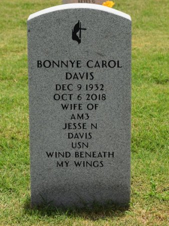DAVIS, BONNYE CAROL - Nueces County, Texas | BONNYE CAROL DAVIS - Texas Gravestone Photos