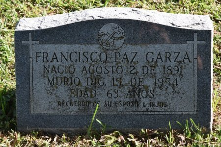 GARZA, FRANCISCO PAZ - Nueces County, Texas | FRANCISCO PAZ GARZA - Texas Gravestone Photos