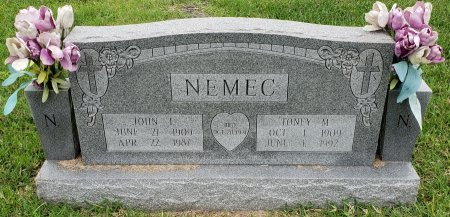 "MIKULEC NEMEC, ANTONIA ""TONEY"" - Nueces County, Texas 