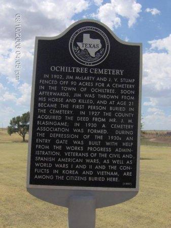 *HISTORICAL MARKER,  - Ochiltree County, Texas |  *HISTORICAL MARKER - Texas Gravestone Photos