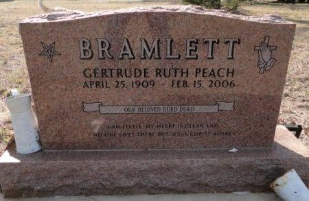 PEACH BRAMLETT, GERTRUDE RUTH - Palo Pinto County, Texas   GERTRUDE RUTH PEACH BRAMLETT - Texas Gravestone Photos