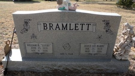 HARRY BRAMLETT, JOYCE LEE - Palo Pinto County, Texas | JOYCE LEE HARRY BRAMLETT - Texas Gravestone Photos
