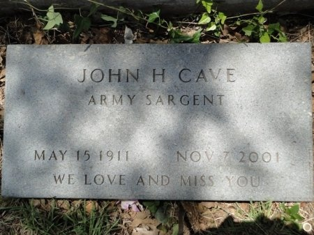 CAVE (VETERAN), JOHN H - Palo Pinto County, Texas | JOHN H CAVE (VETERAN) - Texas Gravestone Photos