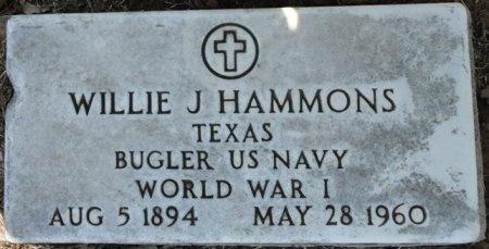 HAMMONS (VETERAN WWI), WILLIE J - Palo Pinto County, Texas | WILLIE J HAMMONS (VETERAN WWI) - Texas Gravestone Photos