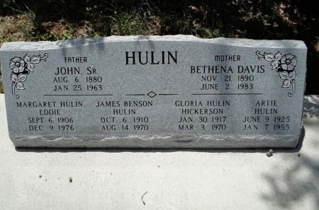 DAVIS HULIN, BETHENA - Palo Pinto County, Texas | BETHENA DAVIS HULIN - Texas Gravestone Photos