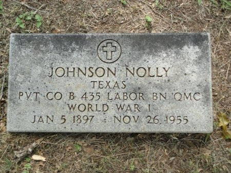 NOLLY (VETERAN WWI), JOHNSON - Palo Pinto County, Texas | JOHNSON NOLLY (VETERAN WWI) - Texas Gravestone Photos