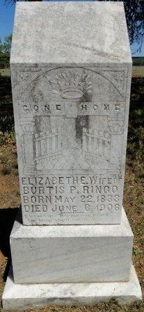 RINGO, ELIZABETH ELLEN - Palo Pinto County, Texas | ELIZABETH ELLEN RINGO - Texas Gravestone Photos