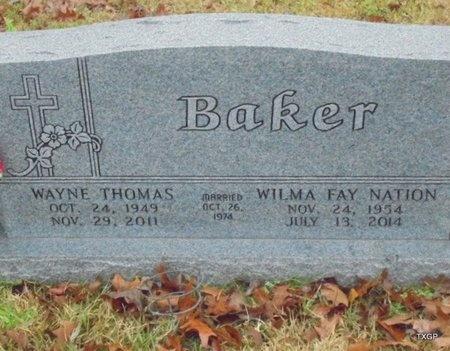 BAKER, WAYNE THOMAS - Panola County, Texas | WAYNE THOMAS BAKER - Texas Gravestone Photos