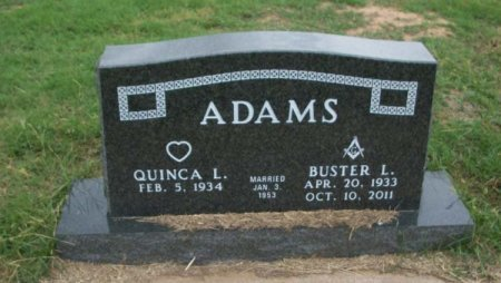 ADAMS, BUSTER LAWRENCE - Parker County, Texas | BUSTER LAWRENCE ADAMS - Texas Gravestone Photos