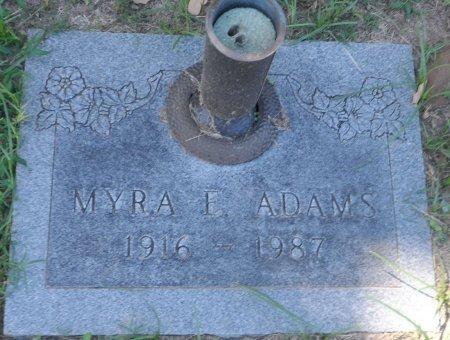ADAMS, MYRA ELIZABETH - Parker County, Texas | MYRA ELIZABETH ADAMS - Texas Gravestone Photos