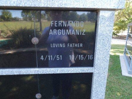 ARGUMANIZ, FERNANDO FLORES - Parker County, Texas   FERNANDO FLORES ARGUMANIZ - Texas Gravestone Photos