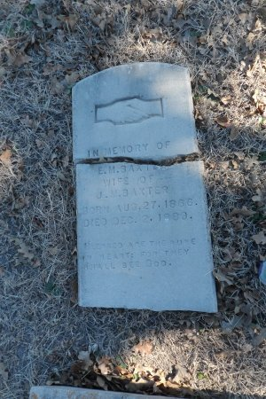 BAXTER, E M - Parker County, Texas | E M BAXTER - Texas Gravestone Photos