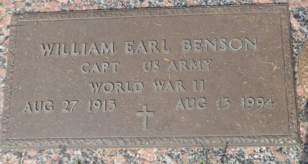 BENSON (VETERAN  WWII), WILLIAM EARL - Parker County, Texas | WILLIAM EARL BENSON (VETERAN  WWII) - Texas Gravestone Photos