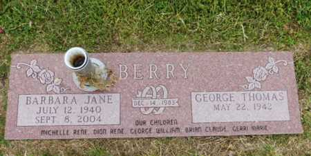 BERRY, BARBARA JEAN - Parker County, Texas | BARBARA JEAN BERRY - Texas Gravestone Photos