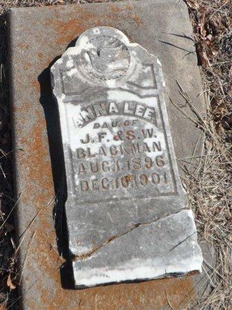 BLACKMAN, ANNA LEE - Parker County, Texas | ANNA LEE BLACKMAN - Texas Gravestone Photos