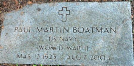 BOATMAN (VETERAN WWII), PAUL MARTIN - Parker County, Texas   PAUL MARTIN BOATMAN (VETERAN WWII) - Texas Gravestone Photos