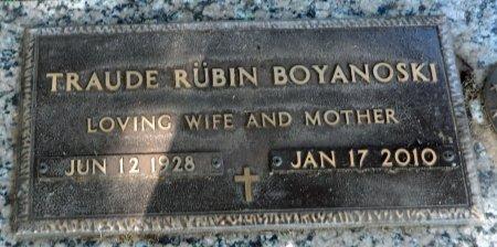 RUBIN BOYANOSKI, TRAUDE - Parker County, Texas   TRAUDE RUBIN BOYANOSKI - Texas Gravestone Photos