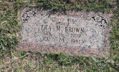 BROWN, ERA MAE - Parker County, Texas   ERA MAE BROWN - Texas Gravestone Photos