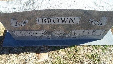 BROWN BROWN, CALLIE ANN - Parker County, Texas | CALLIE ANN BROWN BROWN - Texas Gravestone Photos