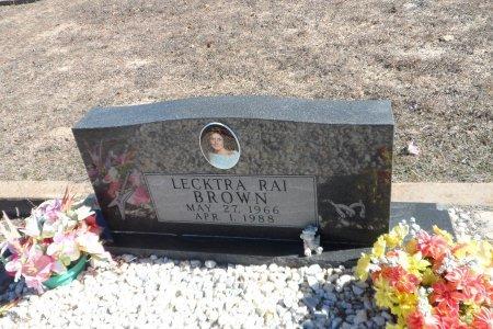 BROWN, LECKTRIA RAI - Parker County, Texas | LECKTRIA RAI BROWN - Texas Gravestone Photos