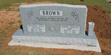 BROWN, RALPH VERNON - Parker County, Texas | RALPH VERNON BROWN - Texas Gravestone Photos