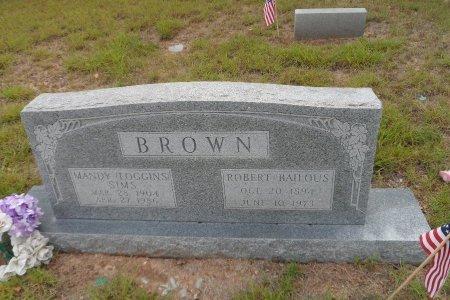 BROWN, ROBERT BAILOUS - Parker County, Texas | ROBERT BAILOUS BROWN - Texas Gravestone Photos
