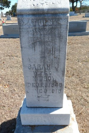 BROWN, SARAH JANE - Parker County, Texas | SARAH JANE BROWN - Texas Gravestone Photos