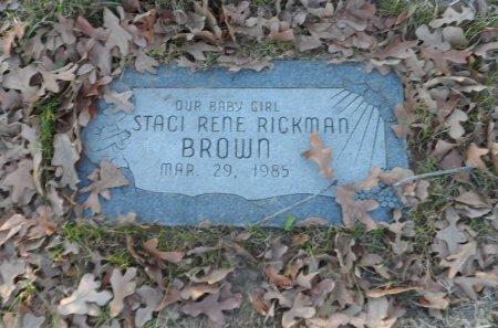 BROWN, STACI RENE RICKMAN - Parker County, Texas | STACI RENE RICKMAN BROWN - Texas Gravestone Photos