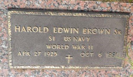 BROWN (VETERAN  WWII), HAROLD EDWIN - Parker County, Texas | HAROLD EDWIN BROWN (VETERAN  WWII) - Texas Gravestone Photos